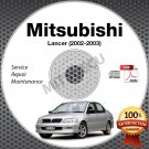 2002-2003 Mitsubishi Lancer Service Manual CD repair workshop ES Rally LS 2.0L