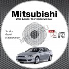 2008 Mitsubishi Lancer Service Manual CD repair workshop DE ES GTS