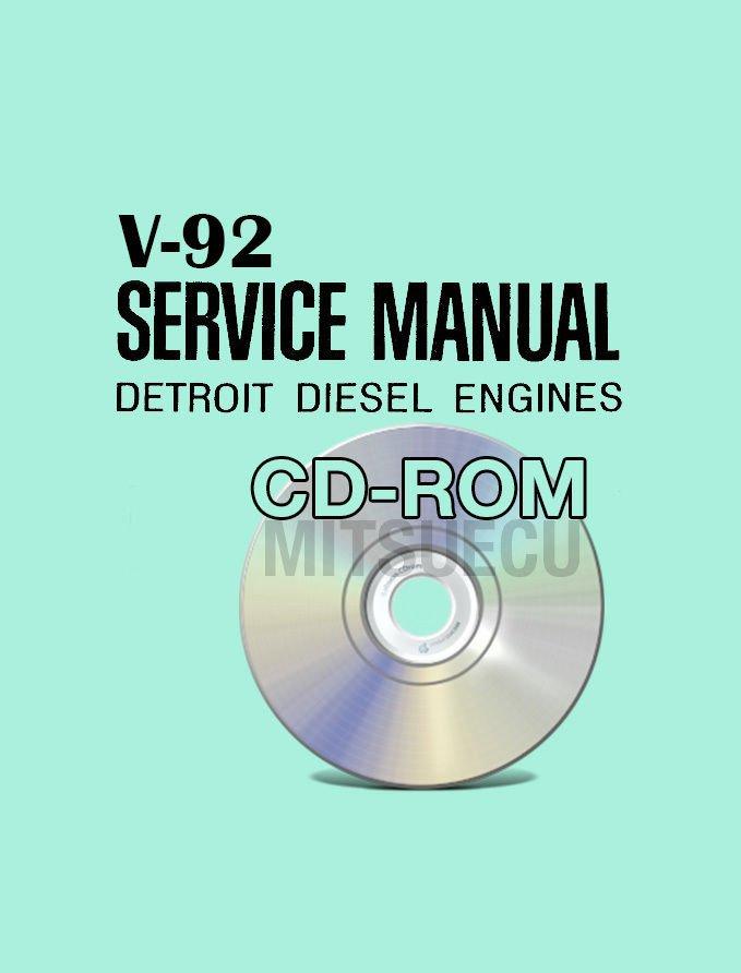 Detroit Diesel V-92 Service Manual on CD 6,8,12,16 cyl workshop repair v92