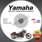 2008-2011 Yamaha RAIDER / S Service Manual CD ROM repair shop XV1900 2009 2010