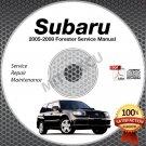 2005 2006 2007 2008 SUBARU FORESTER Service Manual CD ROM shop repair 2.0L 2.5L