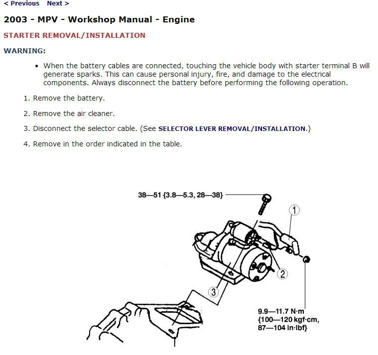 2002-2003 Mazda MPV Service Manual CD ROM workshop repair 3.0L V6