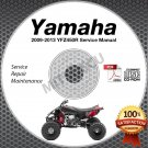 2009-2013 Yamaha YFZ450 / YFZ450R Service Manual CD ROM repair shop 10 11 12