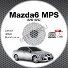 2005-2007 Mazda 6 MPS Service Manual CD ROM (Europe/UK/AUS) repair workshop