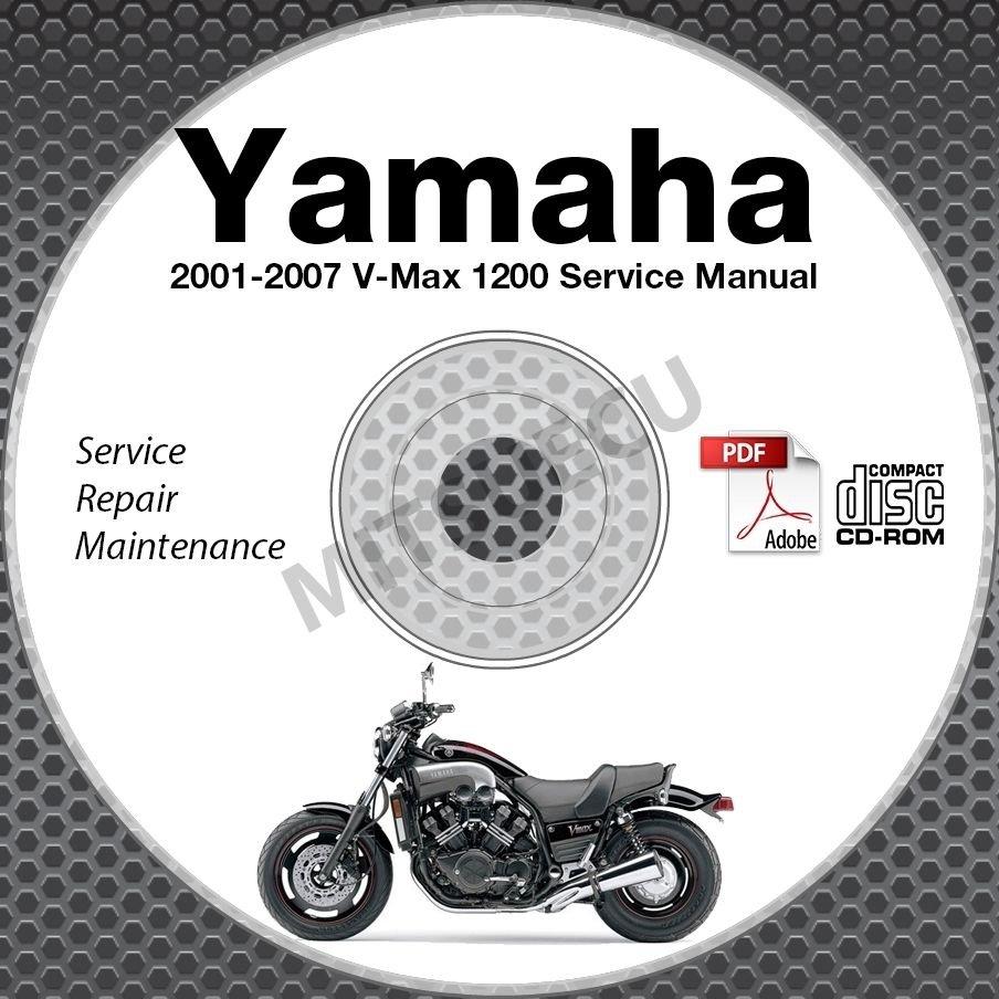 2001-2007 Yamaha V-MAX 1200 Service Manual CD repair shop vmax vmx12 02 03 04 05