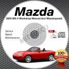 2005 Mazda Miata MX-5 + Mazdaspeed Service Manual CD Workshop Repair 1.8L NB NEW