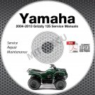 2004-2013 Yamaha GRIZZLY 125 YFM125 Service Manual CD repair shop 05 06 07 08 09