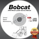 Bobcat 2400 Wheel Loader Hi Definition Service Manual CD ROM repair shop