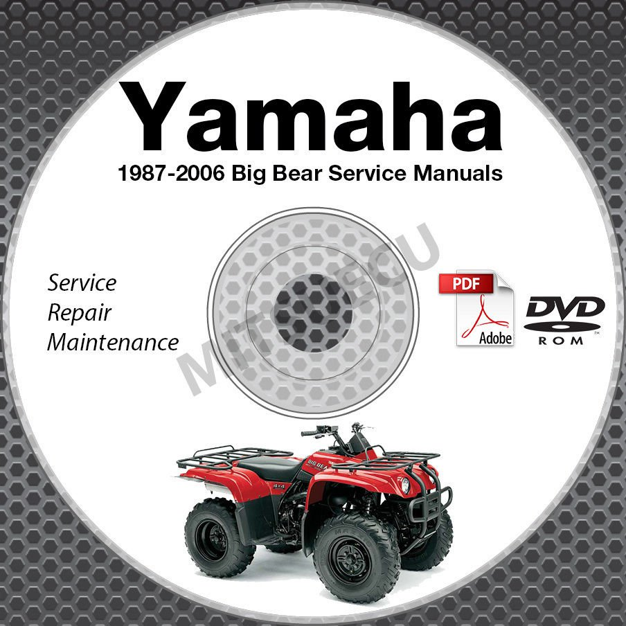 1987-2006 Yamaha BIG BEAR YFM 350 400 Service Manual DVD repair shop 05 04 03 02