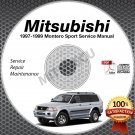 1997 1998 1999 Mitsubishi Montero Sport Service Manual CD ROM 2.4L 3.0L repair
