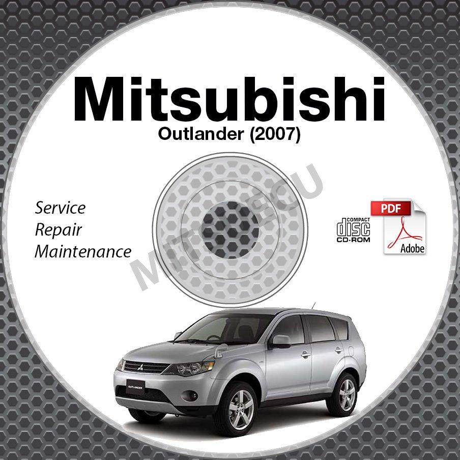 2007 Mitsubishi Outlander Service Manual CD ROM repair workshop