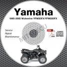 1995-2005 Yamaha WOLVERINE YFM35FX 4x4 ATV Service Manual CD repair shop YFM350