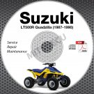 1987-1990 Suzuki LT500R Quadzilla Service Manual CD ATV Repair 1988 1989 LT-500R