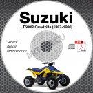 1987-1990 Suzuki LT500R Quadzilla Service Manual CD ATV Repair 1988 1989 LT-500R