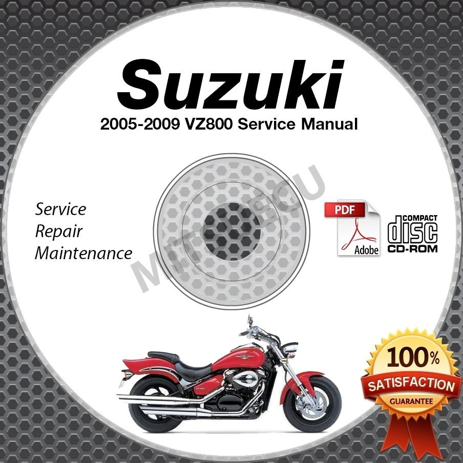 2005 2006 2007 2008 2009 Suzuki VZ800 Boulevard M50 Service Manual CD ROM repair