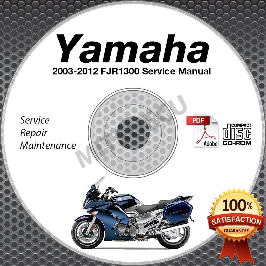 2003-2012 Yamaha FJR1300 (incl. ABS/Elec Shift) Service Manual CD repair shop