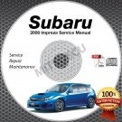 2008 SUBARU IMPREZA Sedan/Hatchback, 2.5i, WRX, STi Service Manual CD repair