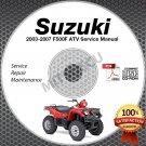 2003-2007 Suzuki LT-F500F Vinson Service Manual CD 99500-44054-01E 2004 2005 06