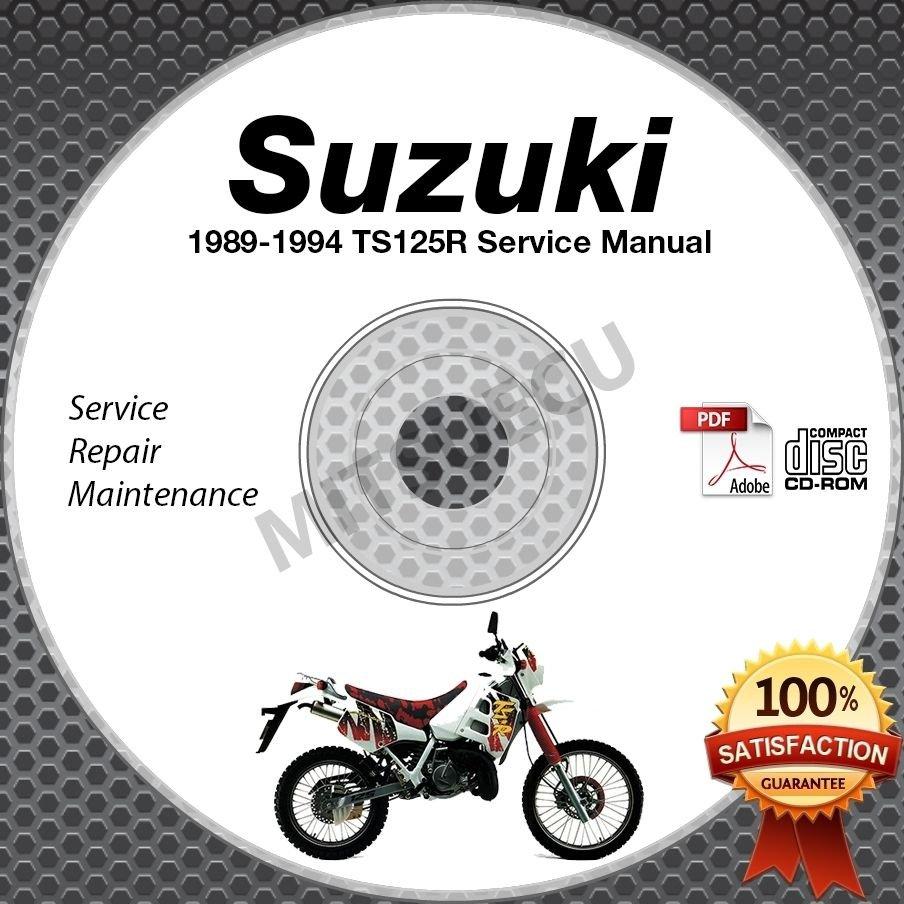 1989-1994 Suzuki TS125R Service Manual CD ROM Repair shop 1990 1991 1992 1993