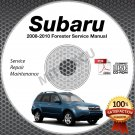 2008-2010 SUBARU FORESTER Service Manual CD ROM 2.5L 2009 2010 repair workshop