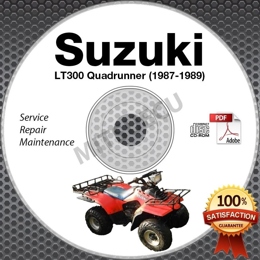 1987-1989 Suzuki LT300 QuadRunner 300 Service Manual CD LT300E LTF300 Repair1988