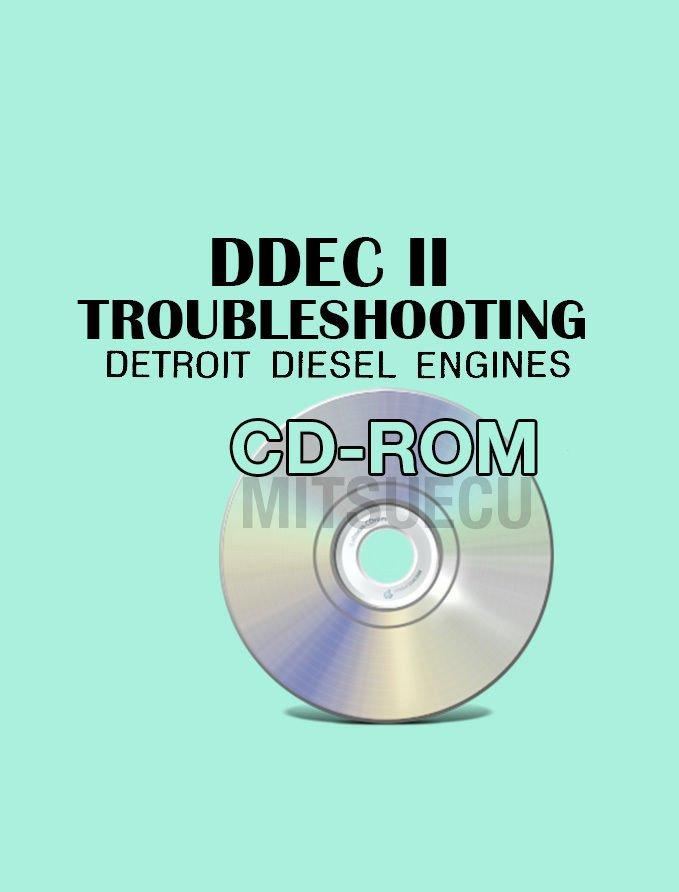 Detroit Diesel DDEC II Troubleshooting Manual CD ROM diagnostic guide 1988