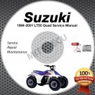 1984-2001 Suzuki LT50 Quad Service Manual CD ROM repair shop 1985 1986 1987 1988