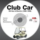1986-1999 Club Car DS Golf Car Service Manual CD ROM Gas + Electric