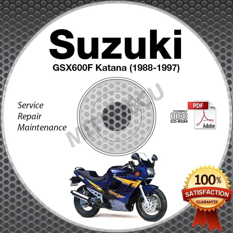 1988-1997 Suzuki GSX600F Katana Service Manual CD ROM Repair 1989 1990 1991 1992