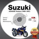 1988-1997 Suzuki GSX600F Katana Service Manual CD ROM Repair 1989 1990 1991 1992