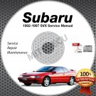 1992-1997 SUBARU SVX Service Manual CD repair shop 3.3L 1993 1994 1995 1996