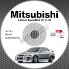 1996-2001 Mitsubishi Lancer Evolution 4 5 6 Service Manual CD repair IV V VI