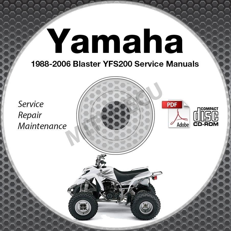 1988-2006 Yamaha BLASTER YFS200 Service Manual CD repair shop 89 90 91 92 93 94