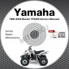 1988-2006 Yamaha BLASTER YFS200 Service Manual CD repair shop 89 90 91 92 93 94