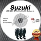 2001-2009 Suzuki DF90 DF100 DF115 DF140 Outboard Service Manual CD 02 03 04 05