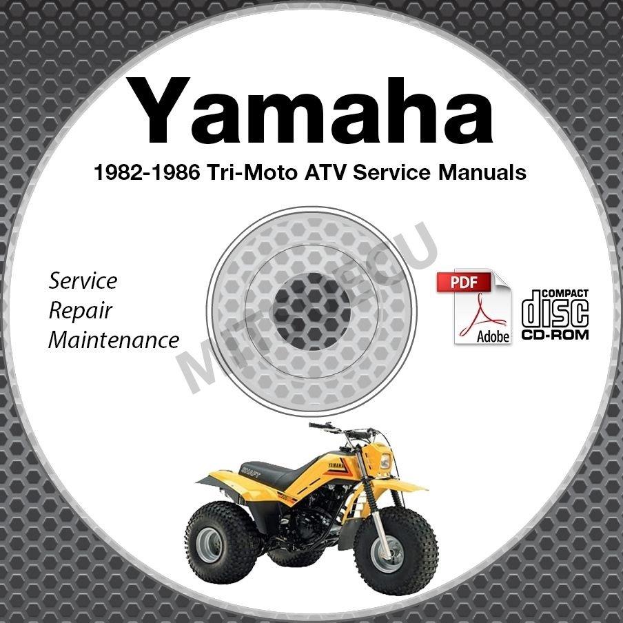 1982-1986 Yamaha TRI-MOTO YT125 YTM200 YTM225 Service Manual CD repair shop 85