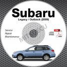 2009 SUBARU LEGACY & OUTBACK OEM Service Manual CD ROM 2.5L 3.0L repair shop