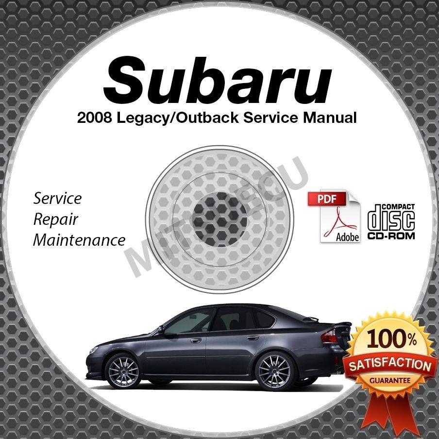 2008 SUBARU LEGACY & OUTBACK OEM Service Manual CD ROM 2.5L 3.0L repair shop