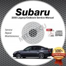 2008 SUBARU LEGACY & OUTBACK OEM Service Manual CD ROM 2.5L 3.0L repair shop