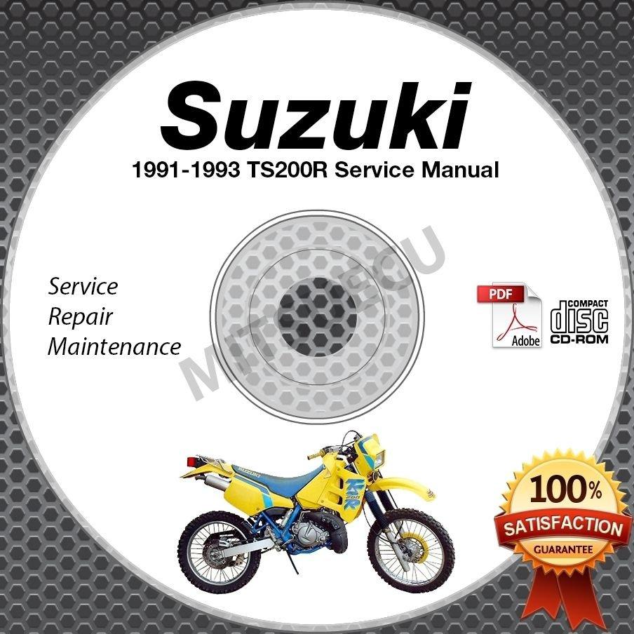 1991 1992 1993 Suzuki TS200R Service Manual CD ROM Repair shop
