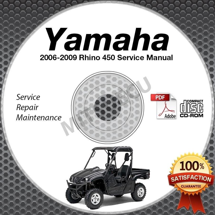 2006-2009 Yamaha RHINO 450 Service Manual CD repair shop LIT-11616-RH-47 2007 08