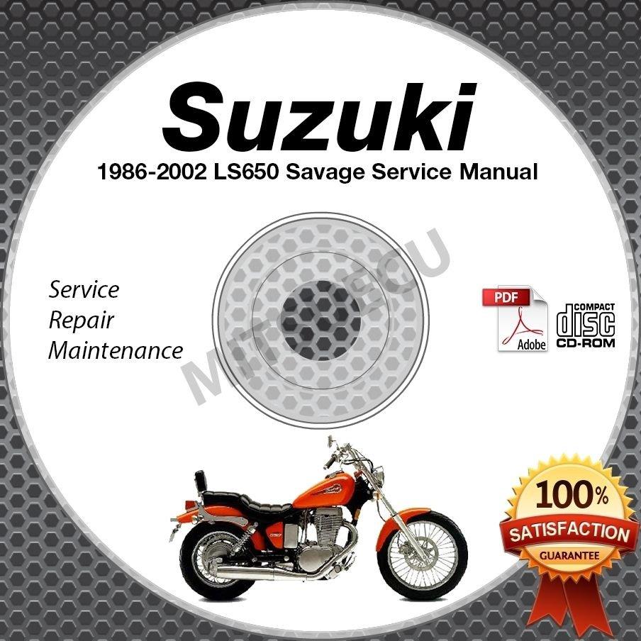 1986-2002 Suzuki LS650 Savage Service Manual CD ROM Repair shop 1987 1988 1989