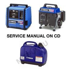 Yamaha EF1000 EF1000A EF1000IS Generator Service Manual CD repair LIT196160102