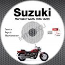 1997-2004 Suzuki VZ800 Marauder Service Manual CD ROM 1998 1999 2000 2001