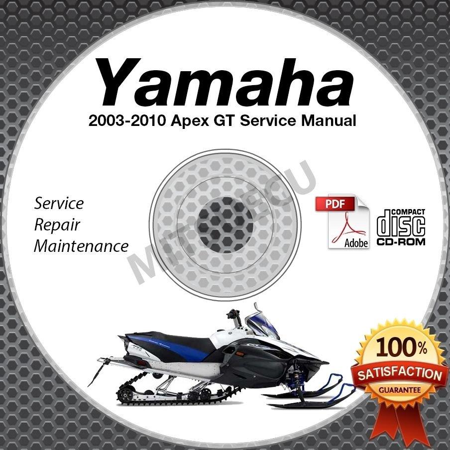 2003-2010 Yamaha APEX GT LTX MTX Service Manual CD repair shop 04 05 06 07 08