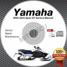 2003-2010 Yamaha APEX GT LTX MTX Service Manual CD repair shop 04 05 06 07 08
