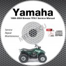 1989-2004 Yamaha Breeze YFA1 Service Manual CD ROM repair shop 90 91 92 93 94 95