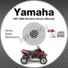1987-2006 Yamaha BANSHEE YFZ350 Service Manual CD repair shop 05 04 03 02 01 00