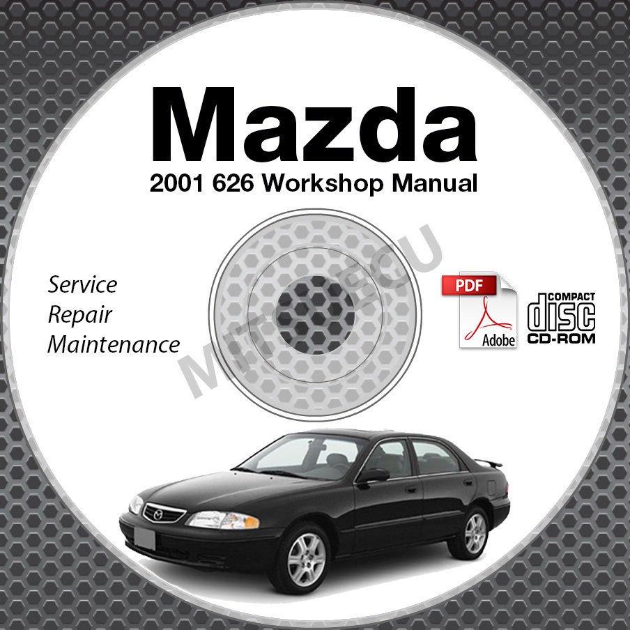2001 Mazda 626 Service Manual CD ROM 2.0L 2.5L workshop repair