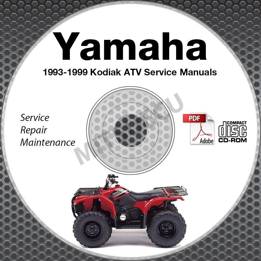 1993-1999 Yamaha KODIAK YFM400 4WD ATV Service Manual CD repair shop High Def